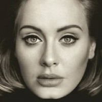 Album cover featuring face of Adele