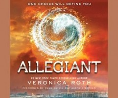Cover art for audiobook, Allegiant