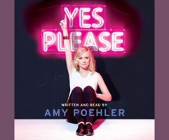 Amy Poehler and neon pink sign