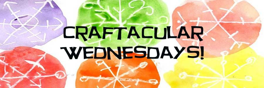 "6 sponge crafts with text, ""Craftacular Wednesdays"""