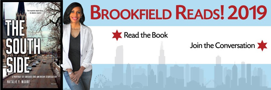 South Side book, Natalie Moore, Chicago flag and skyline