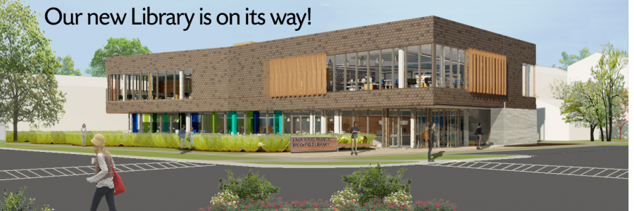 Street view of proposed library building