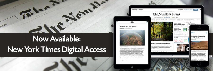 New York Times in print and on tablet, phone, and laptop
